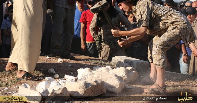 IS says it destroyed archaeological pieces from Palmyra