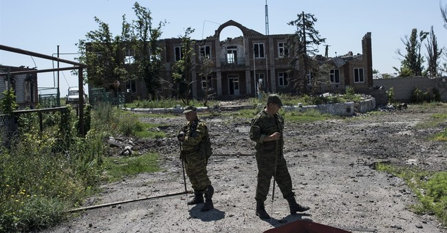 Land mine blast in east Ukraine kills 5 soldiers, wounds 3