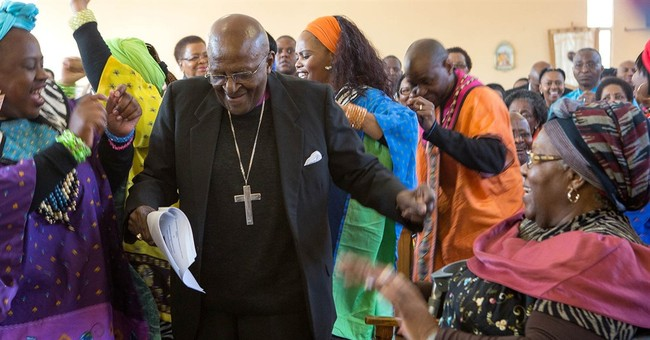 South Africa's Tutu renews vows after 60 years in wedlock