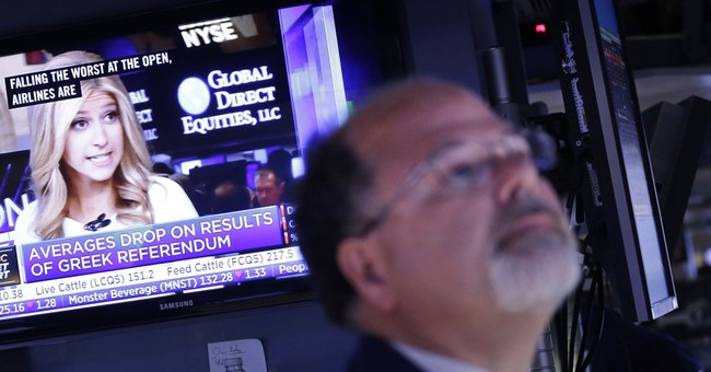 US stocks fall after Greek 'no' vote; European markets sink
