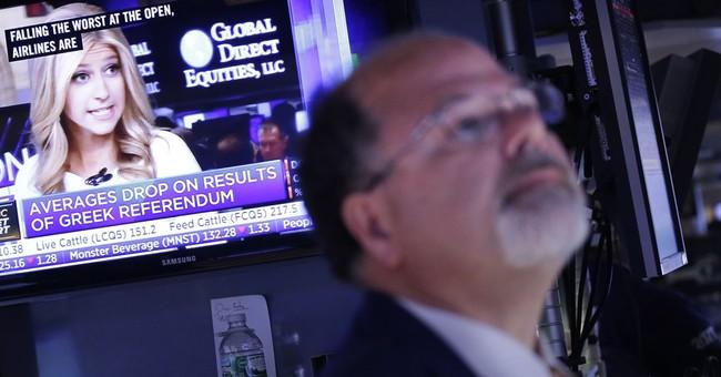 US stocks fall after Greek 'no' vote; European markets sink