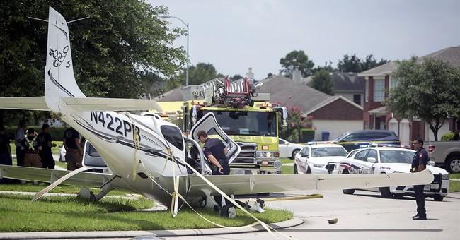 Plane deploys chute, lands in Houston-area neighborhood
