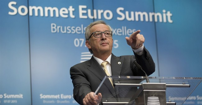 The Latest: Juncker: EU officials are prepared for Grexit