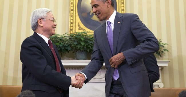Obama hosts Vietnam Communist Party chief at White House
