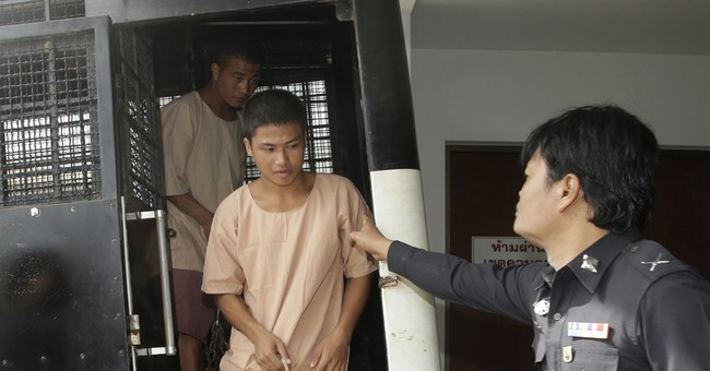 Thai trial opens for 2 accused of killing British tourists