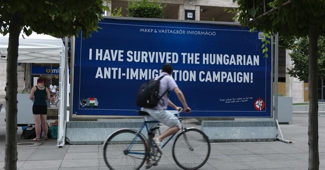 Satirical billboards tackle Hungary's anti-immigrant drive