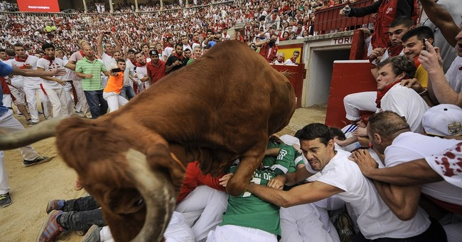 1 Australian gored, 2 injured in fast 2nd Pamplona bull-run