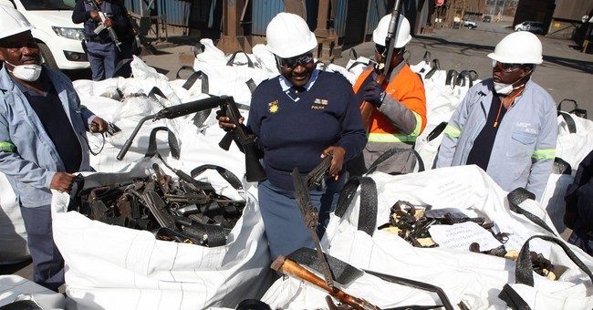 South African police destroy thousands of illegal firearms
