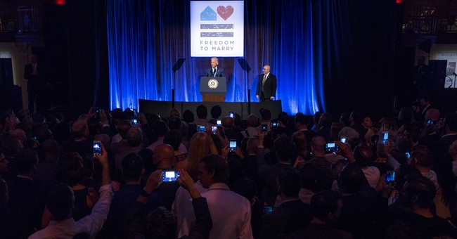 Biden celebrates same-sex marriage, says more to be done