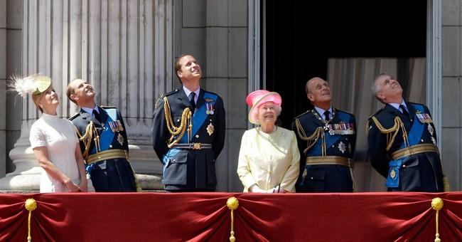 Queen Elizabeth II, senior royals mark battle anniversary