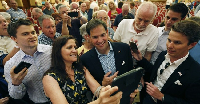 Rubio focuses on Cuban immigrant upbringing in Vegas talks