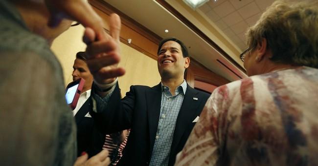 Rubio focuses on Cuban immigrant upbringing in Vegas talks