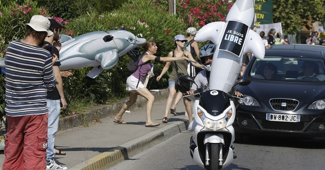 Protesters urge French Riviera marine park to free dolphins