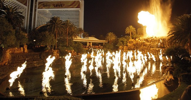 The Mirage volcano in Las Vegas to erupt less frequently