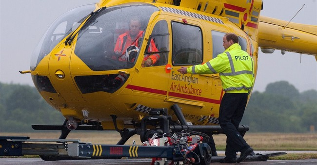 Prince William starts work as air ambulance pilot