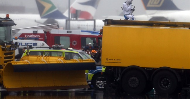 Demonstrators at Heathrow protest airport expansion