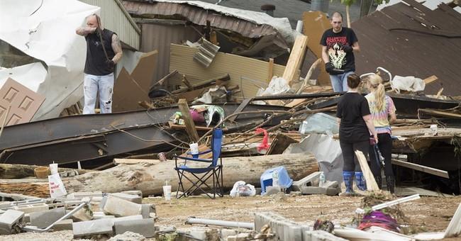 2 dead, 6 missing in Kentucky floods; storms strike again