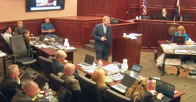 Jury adjourns for the day in Colorado theater shooting trial