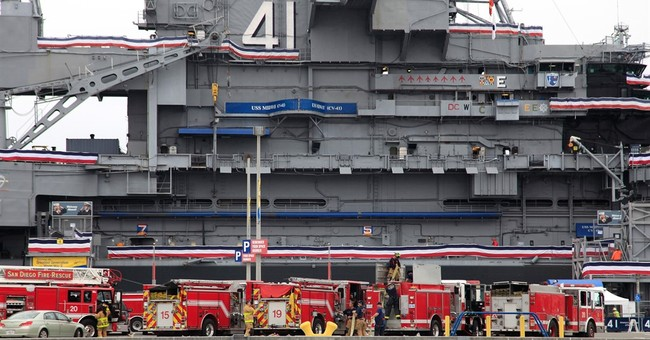 Fire leads to evacuation of historic USS Midway in San Diego