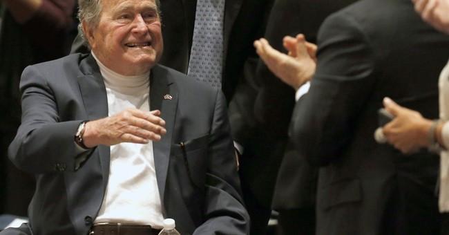 George HW Bush, 91, falls at Maine home, breaks bone in neck