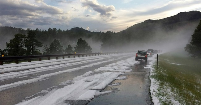Summer hail prompts use of snowplows in South Dakota city