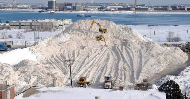 Boston's tower of filthy snow finally melts away