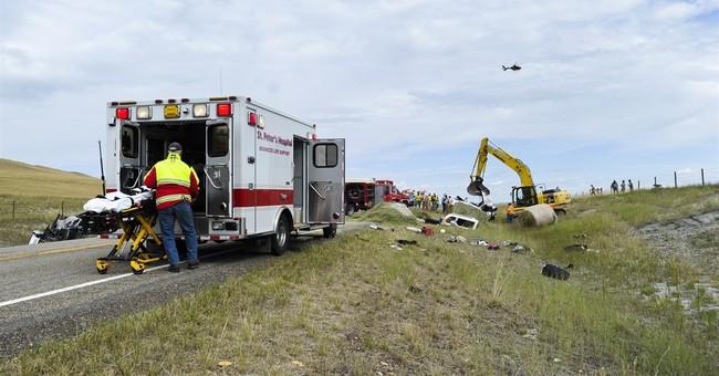 2 pickups crash head-on in Montana, killing 3, injuring 5