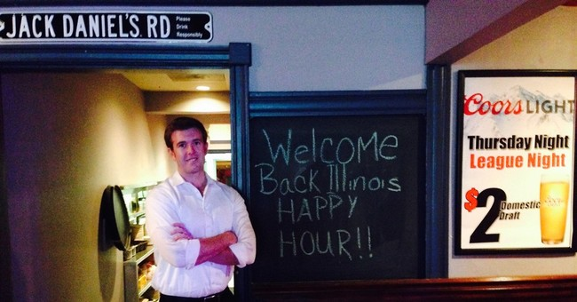 """Illinois brings back happy hour, but not all saying """"cheers"""""""