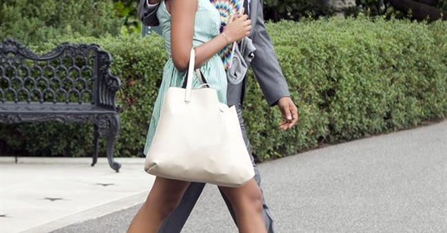 It's a dad-daughter overnighter in New York for the Obamas