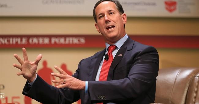 The Latest: Rick Santorum favors curbs on legal immigration