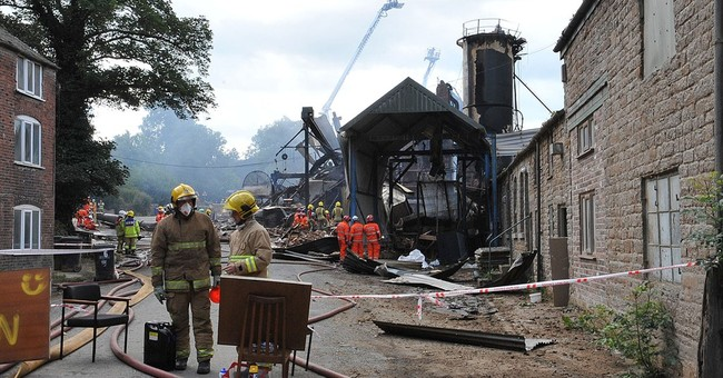 Workers look for 4 missing after explosion at UK wood mill