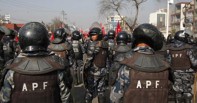 Opposition turns violent inside Nepal parliament, on streets
