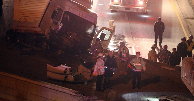 Officials: 1 dead, 1 injured in overpass collapse in Ohio