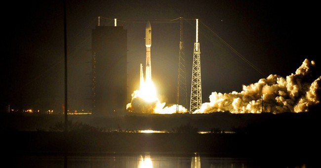 Air Force launches rocket carrying a Navy satellite aloft