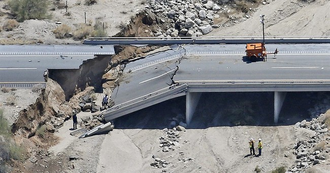 I-10 at washed out bridge in California to reopen Friday