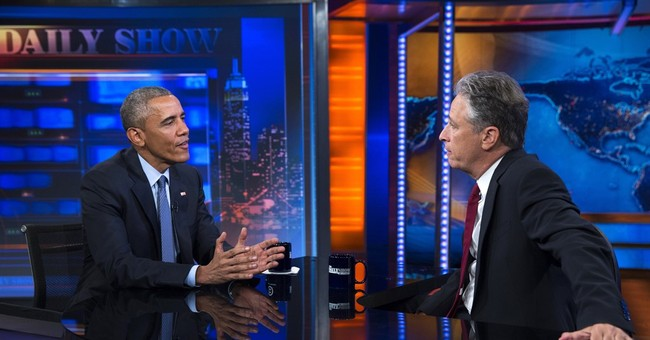 Obama tells Jon Stewart: 'We move the ball forward'