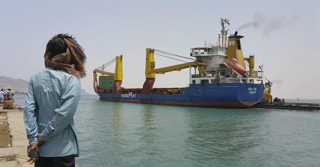 Aid ship arrives in war-torn south Yemen port carrying food