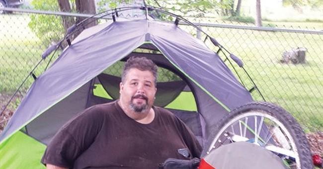 560-pound man biking across US to lose weight