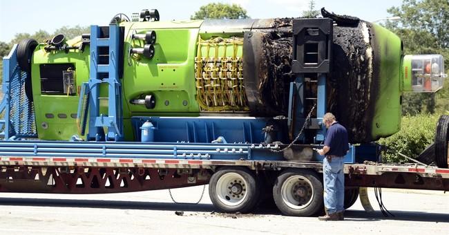 Deepsea Challenger sub damaged in truck fire
