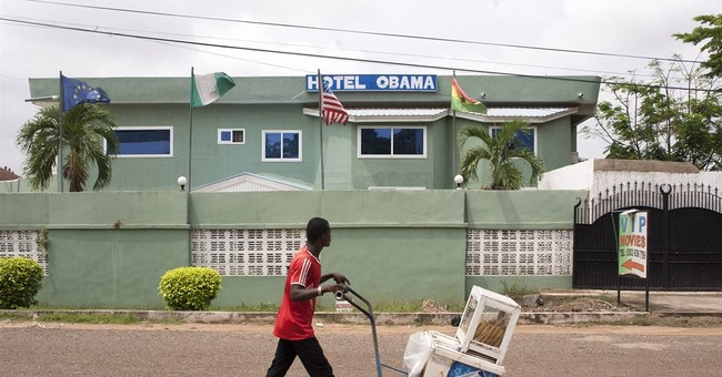 AP PHOTOS: Obama's face found across Africa ahead of visit