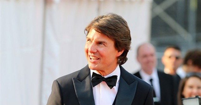 Strapped to flying Airbus, Tom Cruise muses on camera angle