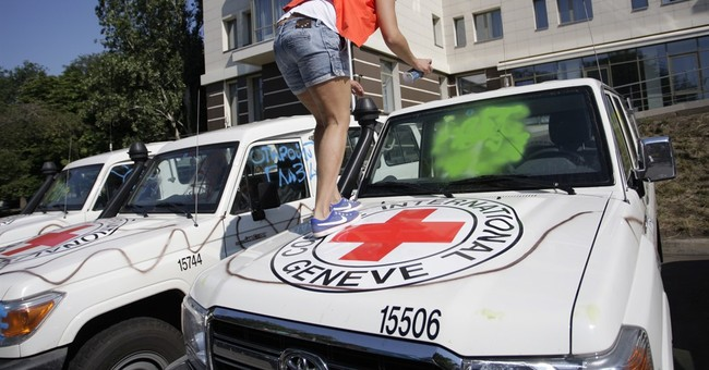 Protesters vandalize cars of OSCE observers in east Ukraine