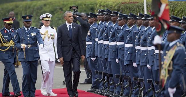 The Latest: Obama jokes Kenya trip is family reunion