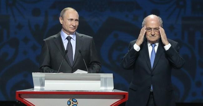 Sepp Blatter deserves the Nobel Prize, Vladimir Putin says