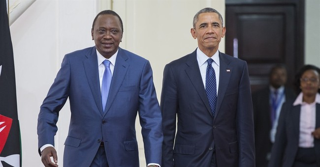 The Latest: Obama jokes Kenya trip is family reunion