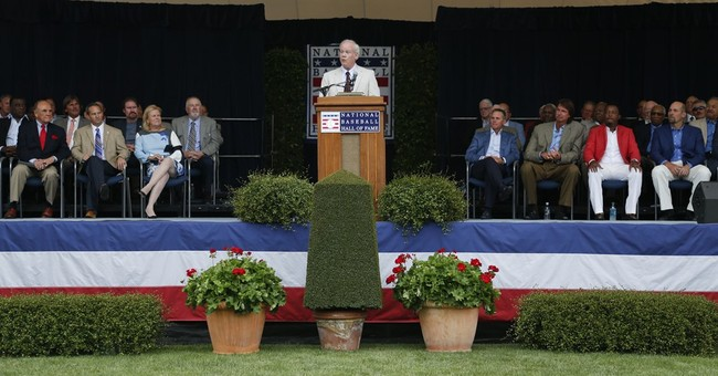 Oh, my! Dick Enberg feted in Cooperstown with writer Gage