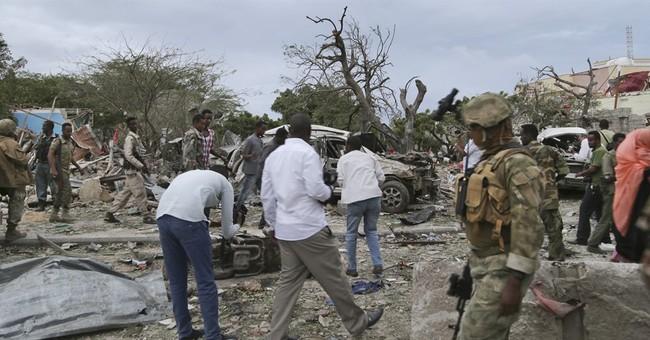 Al-Shabab suicide truck bomb hits main Somali hotel, kills 9