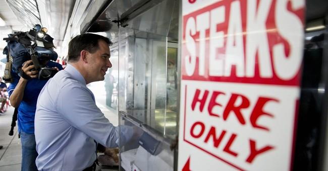 Scott Walker orders American on cheesesteaks, avoiding gaffe