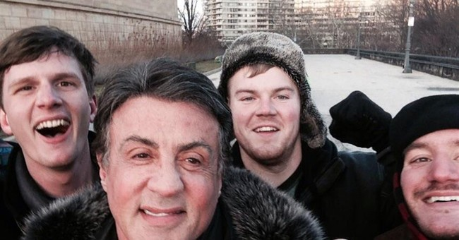 Tourists get knockout photo of Stallone atop 'Rocky' steps