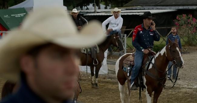AP PHOTOS: Italy's cowboys show off their skill